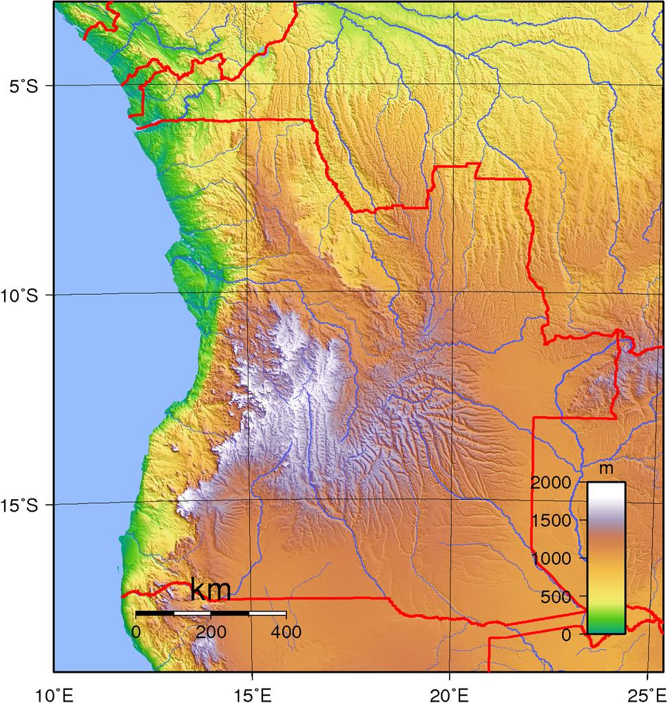 Angola Topography