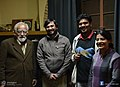 Anil Laul with Abhishek Sharma, Siddharth Ravishankar and Tanya Pahwa.jpg