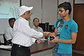 Anil Shrikrishna Manekar Presents Certificate to Aditya Ranjan - Orientation cum Selection Camp for XXI International Astronomy Olympiad - NCSM - Kolkata 2016-05 3831.JPG