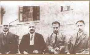 "Independence Tribunals (Turkey) - Members of the Ankara Independence Court; from left to right: Kılıç Ali Bey, ""Kel"" Ali Bey, Necip Ali Bey, and Reşit Galip Bey"
