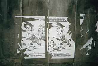 Mikheil Saakashvili - Anti Saakashvili poster in Tbilisi, 2006