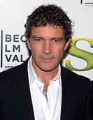 Antonio Banderas in a black suit