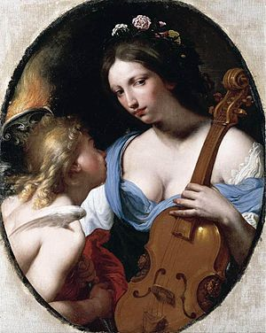 Anthropomorphism - Personification of Music by Antonio Franchi, circa 1650