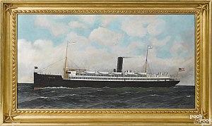 Antonio Jacobsen - Image: Antonio Jacobsen, oil on board of the Atlantic Transport Line's Mohawk 1911