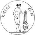 Aphrodite of Knidos coin engraving.png