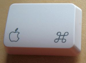 Apple Keyboard - An old version Command key, bearing the Apple logo