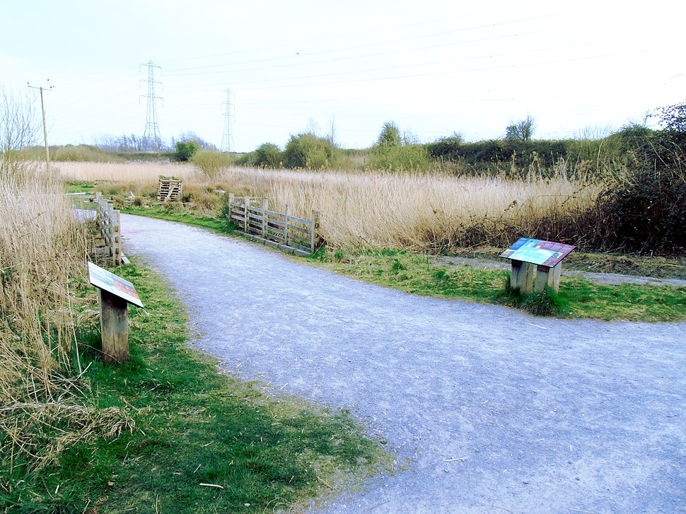 Approaching Play and Picnic Area of Newport Wetlands RSPB Reserve
