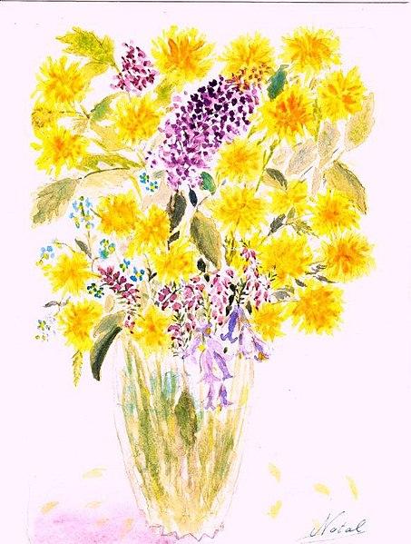 File aquarelle fleurs reduit 8 wikimedia commons for Bouquet de fleurs wiki
