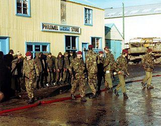 Argentine surrender in the Falklands War