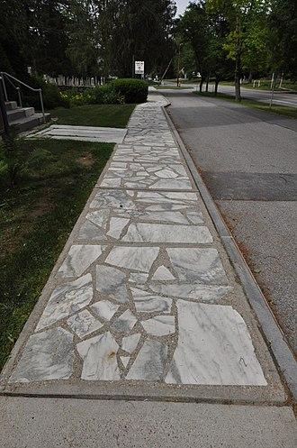 National Register of Historic Places listings in Bennington County, Vermont - Image: Arlington VT Marble Sidewalk