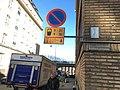 Arm-mounted parking sign (42111541462).jpg