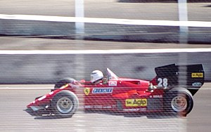 1984 Dallas Grand Prix - René Arnoux finished second for Ferrari.