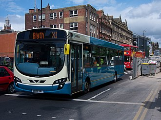 Wright Pulsar - A new facelifted Pulsar 2 with Arriva North East.