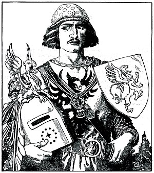 Gawain - Sir Gawaine the Son of Lot, King of Orkney, by Howard Pyle from The Story of King Arthur and His Knights (1903)