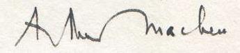 Arthur Machen signature