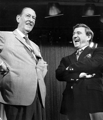 Arthur Treacher - Treacher and Merv Griffin on Griffin's CBS talk show, 1969.