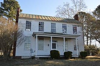 Somerton Historic District - I-house at Arthur and Pittmantown