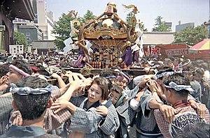 Festivals in Tokyo - Sanja Matsuri in Asakusa.