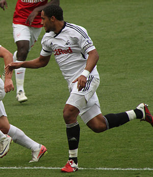 Ashley Williams (footballer) - Williams playing for Swansea City in 2011