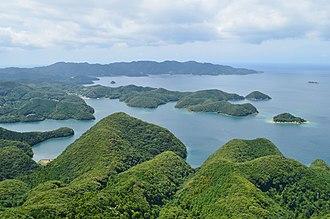 Tsushima Island - Asō Bay from Shiroyama summit peak