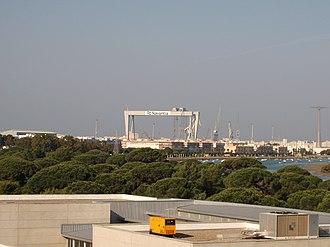 Navantia - Navantia shipyards in Cádiz.