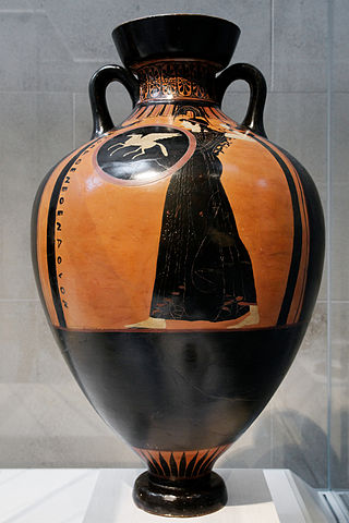 Panathenaic amphora with depiction of Athena (c. 490 BC) – Ancient Panathenaic Games