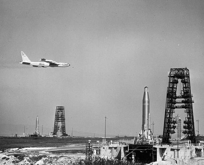 Atlas missiles on alert at Vandenberg Air Force Base - 1960