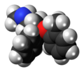 Atomoxetine molecule spacefill.png