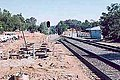 Auburn station construction, June 28, 2003.jpg