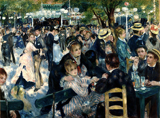 Auguste Renoir - Dance at Le Moulin de la Galette - Musée d'Orsay RF 2739 (derivative work - AutoContrast edit in LCH space)