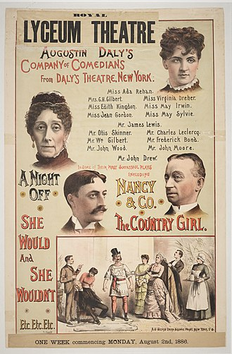 Augustin Daly - Poster from the Royal Lyceum,1886