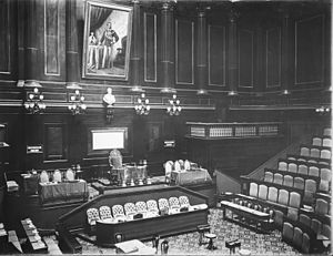 Senate of the Kingdom of Italy - Chamber of the Senate in 1884