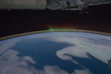 ファイル:Aurora Australis over Indian Ocean.ogv