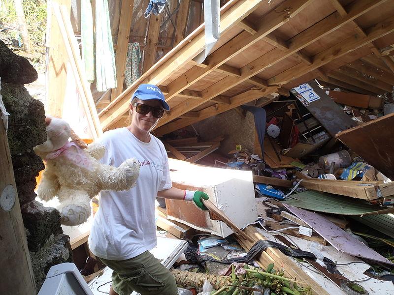 Volunteering after Cyclone Evan