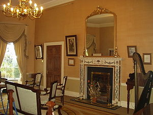 Avondale House - The Drawing Room, with some of the house's original furniture