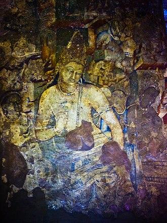 Avalokiteśvara - Avalokiteśvara / Padmapani, Ajanta Caves, India