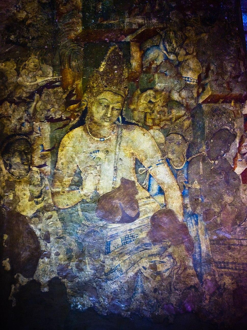 Avalokiteśvara - Padmapani, Ajanta Caves (4243433392)