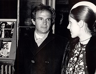 Claude Jade - François Truffaut and Claude Jade while Premiere of their third film Love on the run