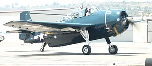 Gillespie Field - Grumman TBF Avenger on the tarmac at the 2012 Wings Over Gillespie airshow