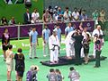 Awarding ceremony of the blind judo men +90 kg of the 2015 European Games 2.jpg