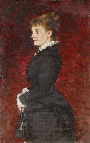 Portrait - Lady in Black Dress