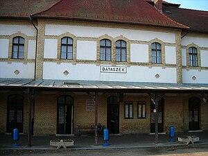 Bátaszék - Image: Bátaszék vasútállomás