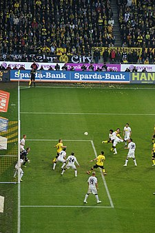 Borussia Monchengladbach against Borussia Dortmund in April 2012 BVB 2012 4245.jpg