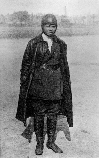 Bessie Coleman, the first licensed black pilot...