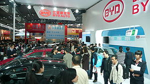 BYD Auto - The BYD stand at the 2009 Central China High-Tech Fair in Shenzhen