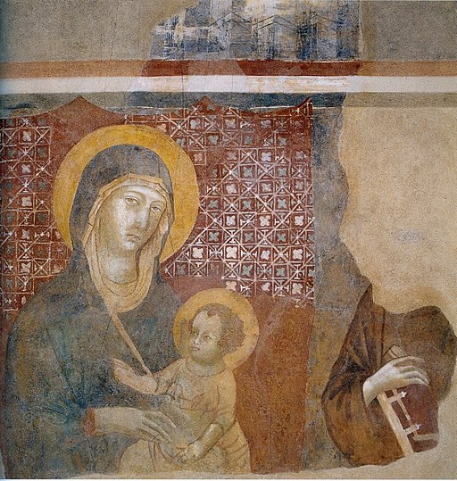 Badia a Isola Master, Madoona and Child with st. Francis, San Biagio, Montepulciano
