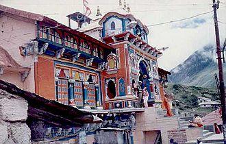 Badrinath - Badrinath temple in night after closing ceremony.