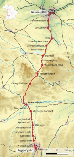 nurembergaugsburg railway