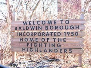 Baldwin, Pennsylvania - Borough of Baldwin welcome sign.