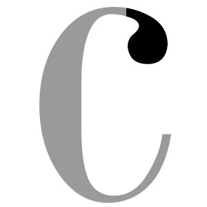 Ball terminal - Example of a ball terminal seen in the Bodoni font series